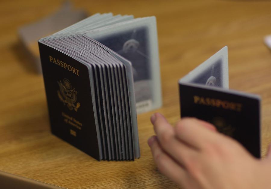Unión Europea, Estados Unidos, Pasaporte