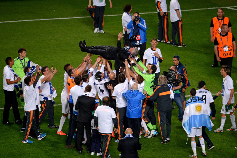 Carlo Ancelotti Campeon Champions League con el Real Madrid