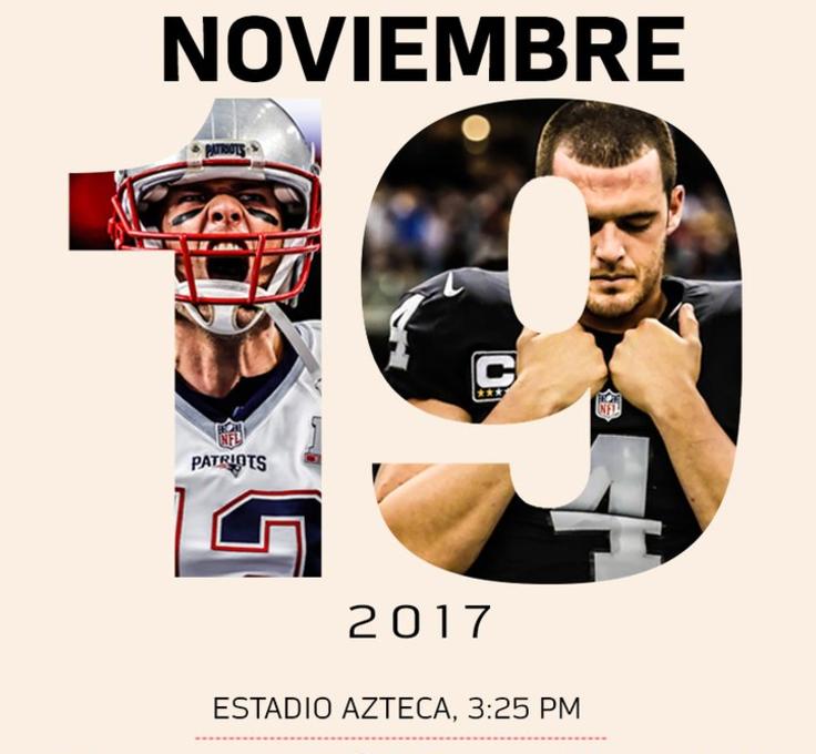 ¡Tenemos hora y fecha para el Raiders vs Patriots en México!
