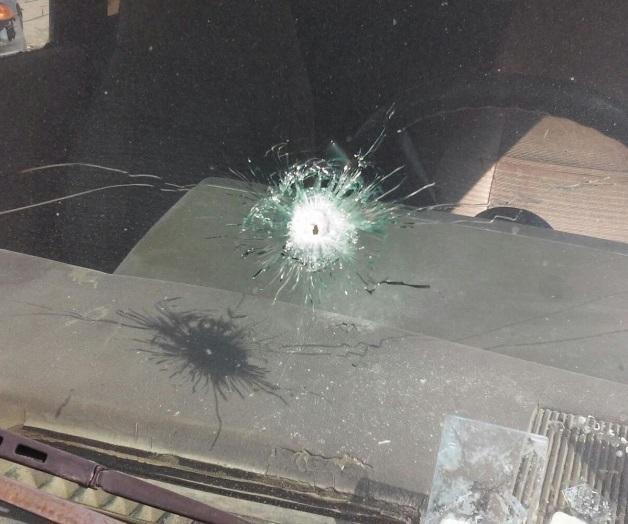 Vehículo en el que civil fue herido por la Marina