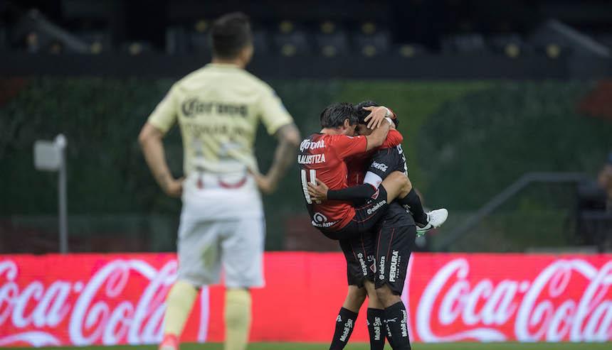 Adiós al invicto en el Azteca: Atlas derrota al América ya sin Peláez
