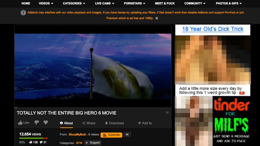 Big Hero 6 en Pornhub