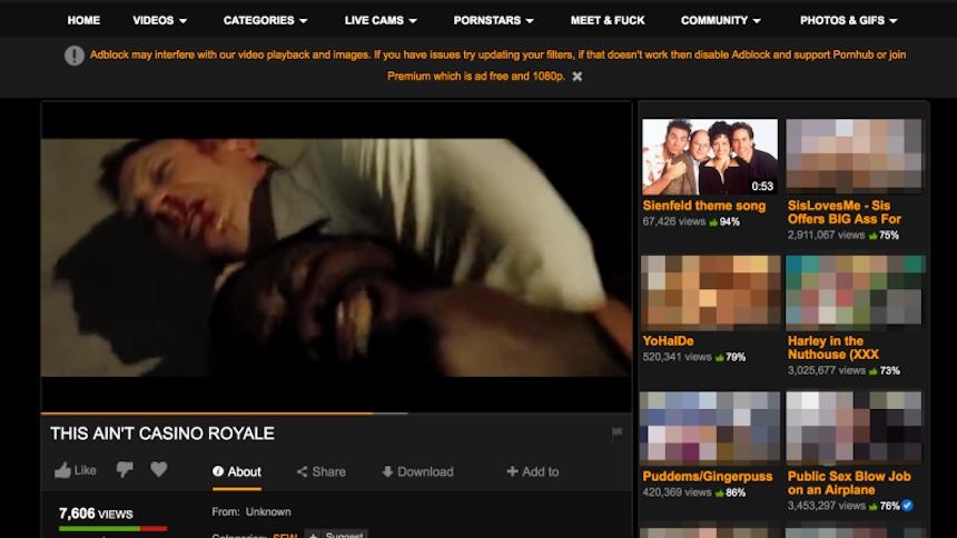 Casino Royale en Pornhub