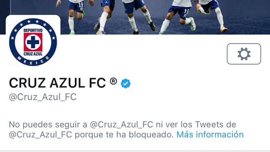 """""""Programa de computadora"""" es el que bloquea en el Twitter de Cruz Azul"""
