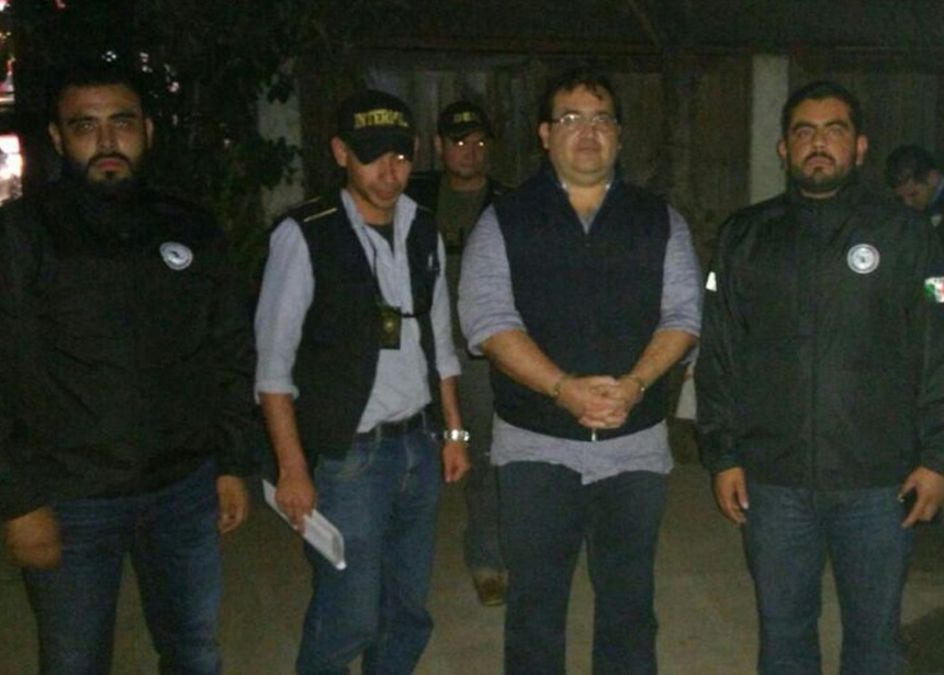 Javier Duarte, detenido en Guatemala