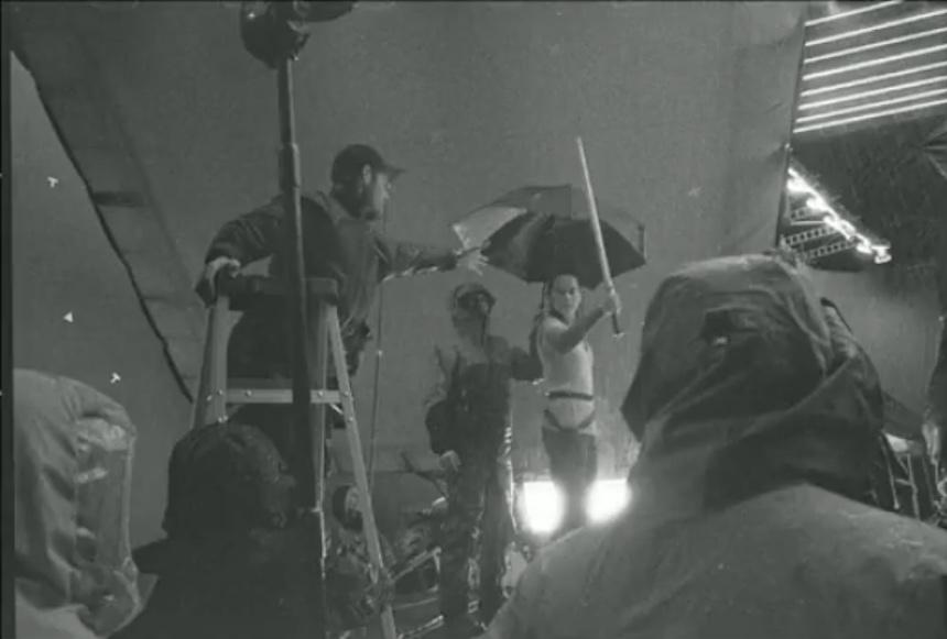 Foto en blanco y negro - Set de The Last Jedi