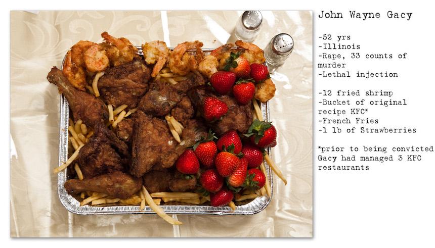 Comida de John Wayne Gancy