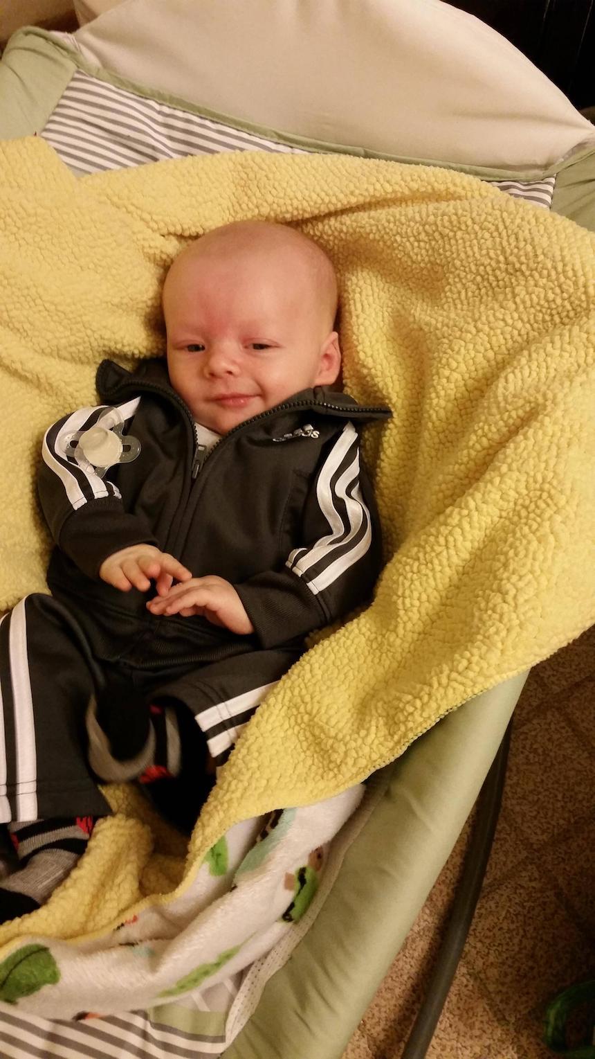Bebé de ocho semanas