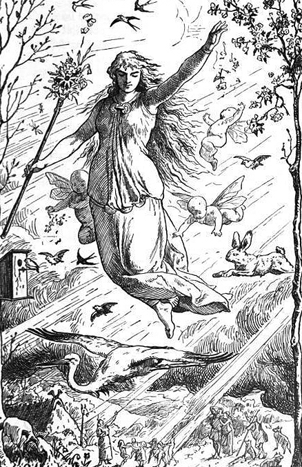 Representación de Ostara por Johannes Gehrts