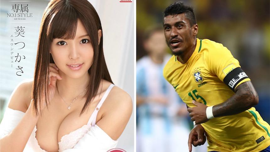 ¡WTF! Paulinho podría ser deportado de China por foto con actriz porno
