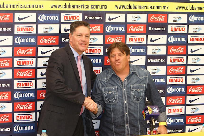 Ricardo Peláez y Miguel Herrera