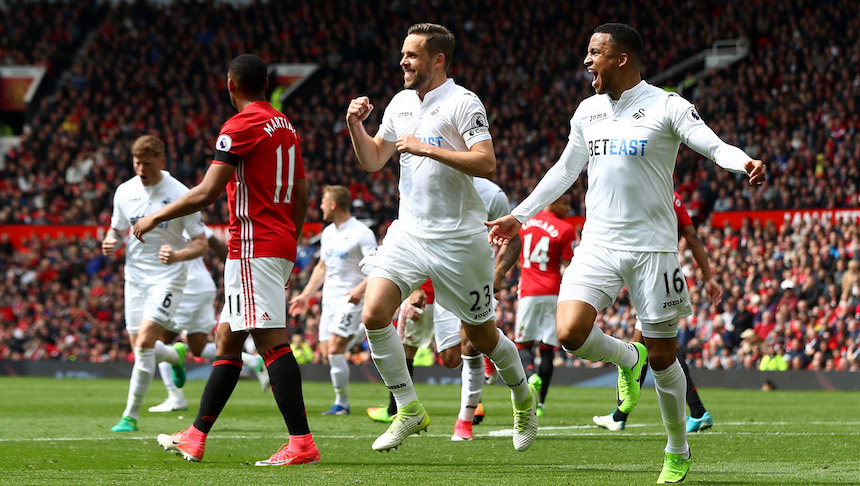 El Manchester United no puede con el Swansea y compromete su pase a Champions