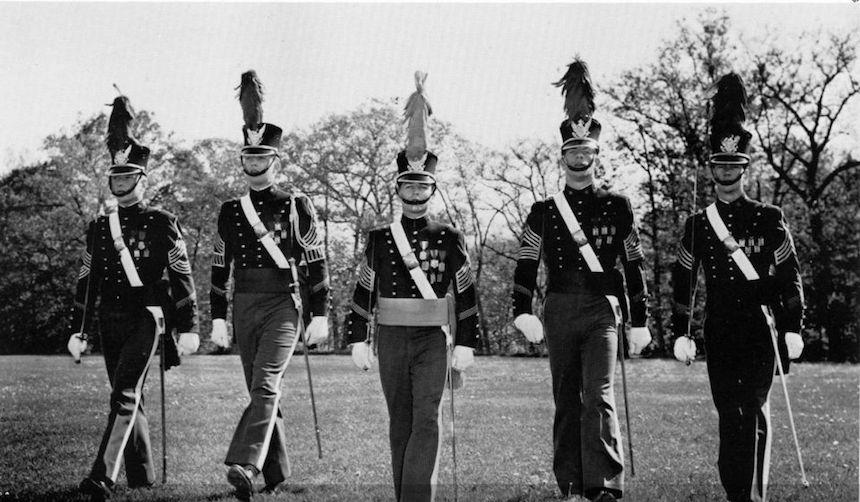Trump en la Academia Militar de Nueva York