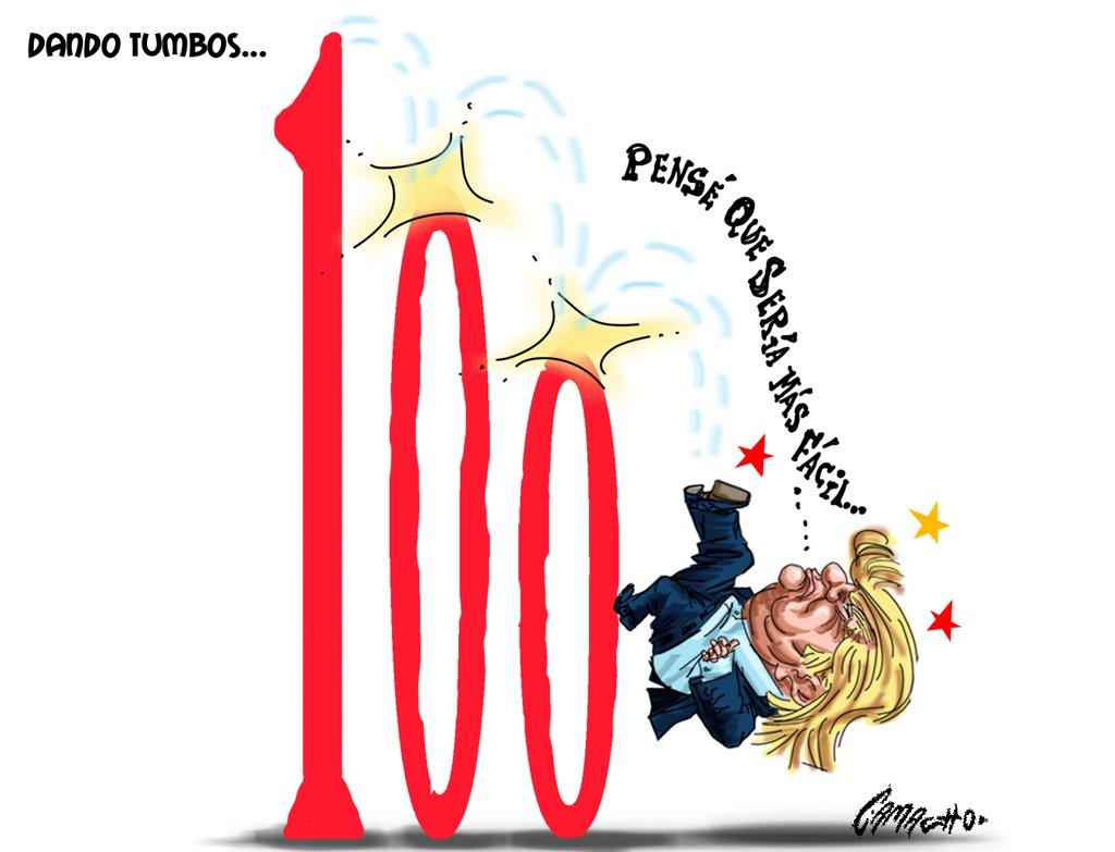 Trump escalando el número 100