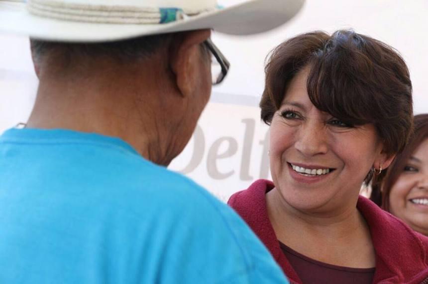 Delfina Gómez, candidata de Morena a la gubernatura del Edomex