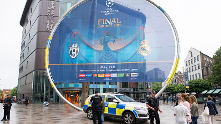 Real Madrid arribó a Cardiff con su plantel completo