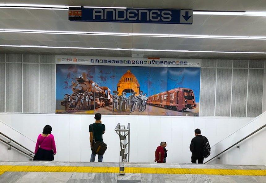 Vagando - Frontón de México en el metro