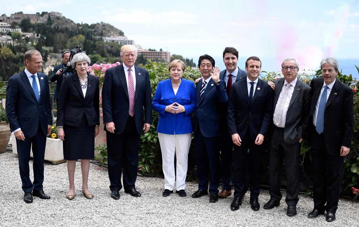 Mandatarios en la Cumbre G7