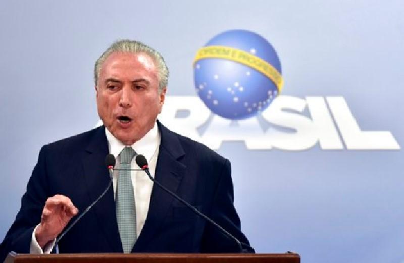 El presidente de Brasil, Michel Temer