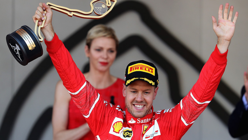 Ferrari domina y Sebastian Vettel gana el Gran Premio de Mónaco
