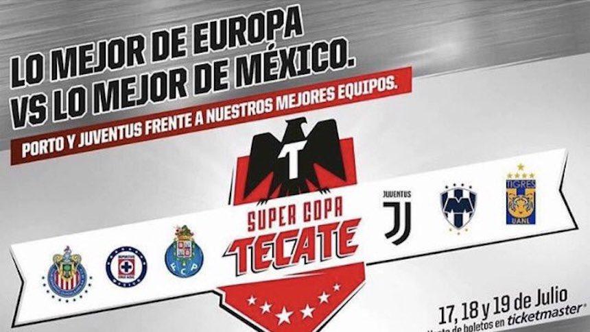 Juventus y Porto jugarán en México en la #SupercopaTecate