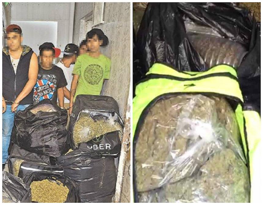 Incautan mochilas de UberEats con 300 kilos de droga