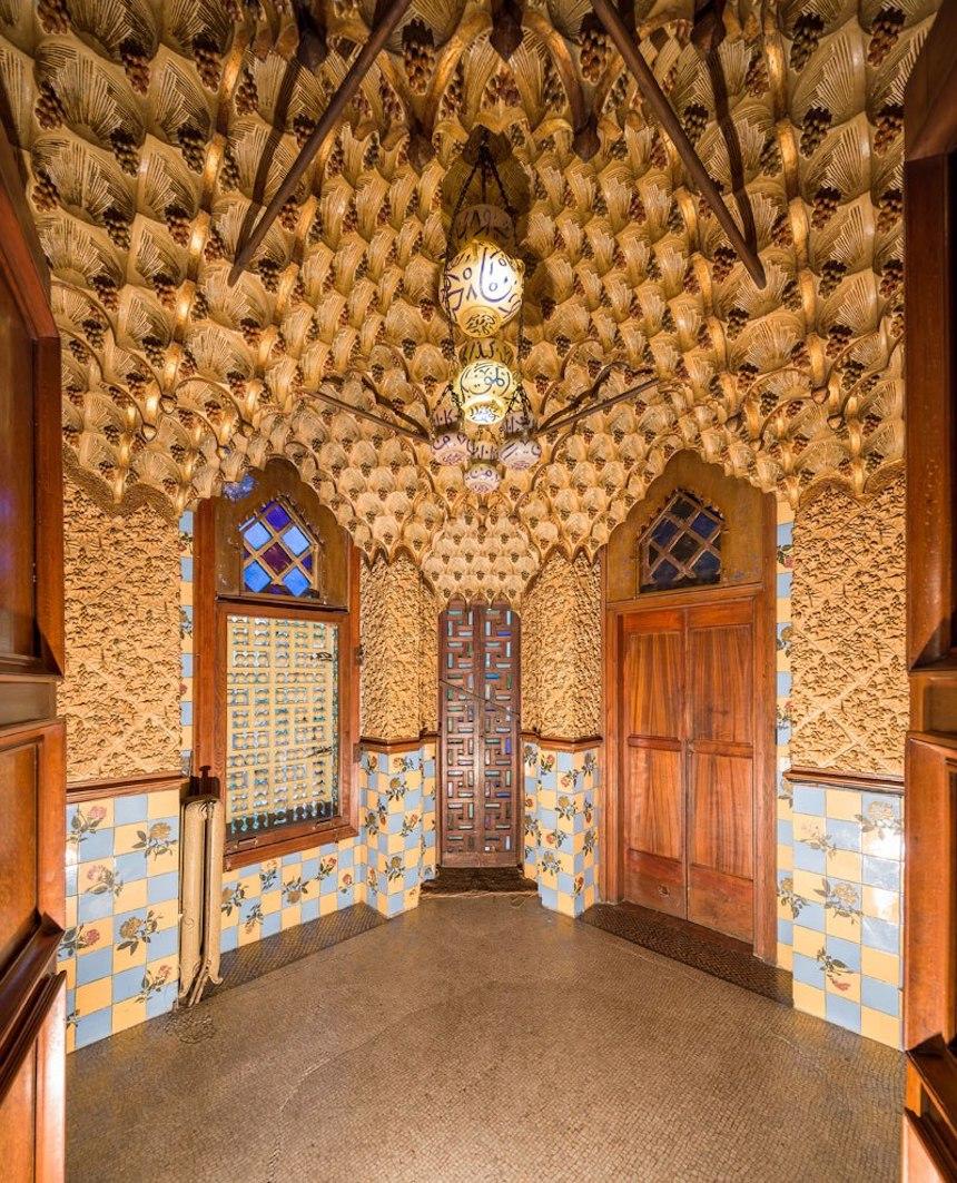 Casa de Antonio Gaudí - Acabados internos