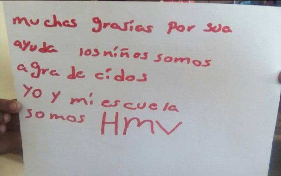mensaje de niños a Humberto Moreira