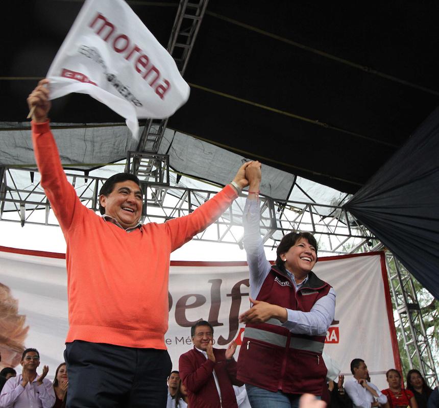Delfina Gómez cierra su campaña en Texcoco