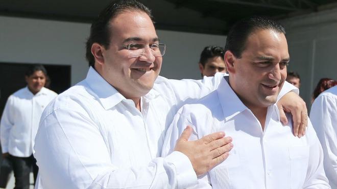 Los exgobernadores Javier Duarte y Roberto Borge