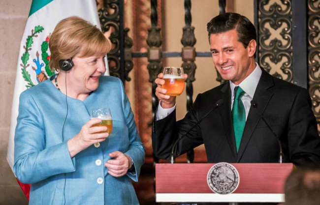 Angela Merkel y Peña Nieto