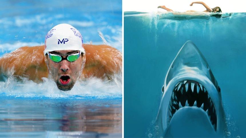 Michael Phelps nadará en contra de un tiburón blanco… sí un tiburón