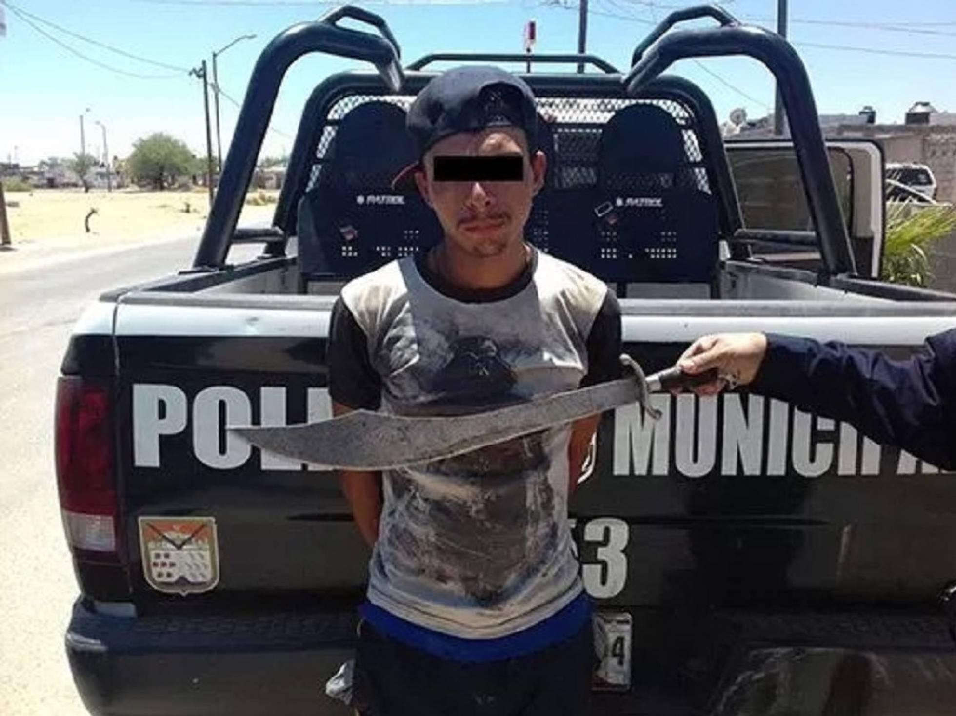 Machetero detenido en Sonora