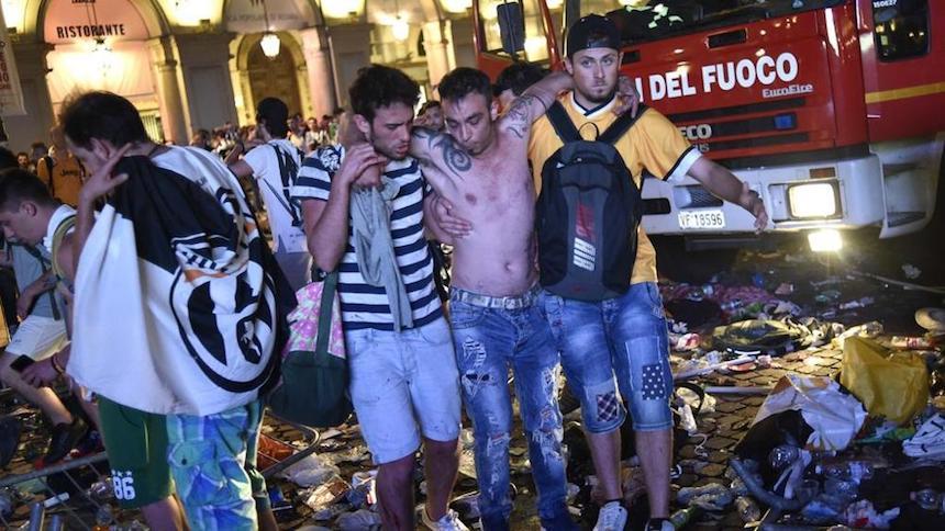 Fuerte estruendo provoca pánico en Fan Zone de Turín