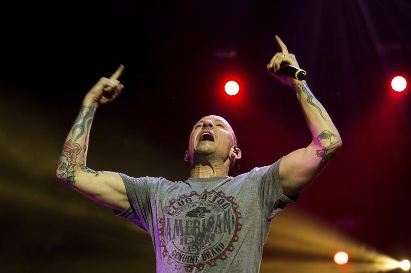 Chester Bennington de Linkin Park en Mexico
