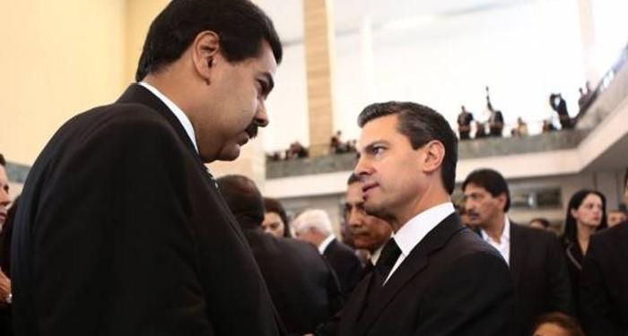 Nicolás Maduro y Enrique Peña Nieto
