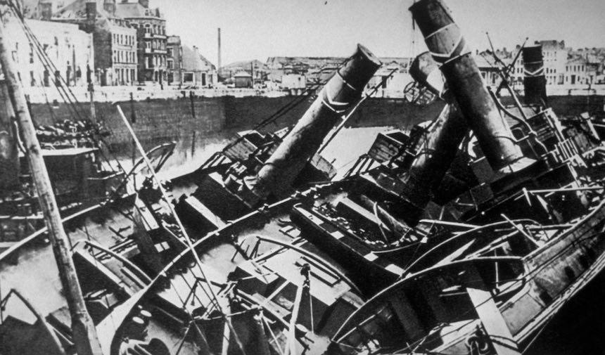 Batalla de Dunkerque - Barcos amontonados