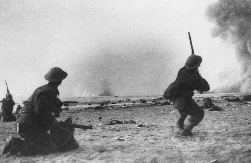Batalla de Dunkerque - Soldados en la playa