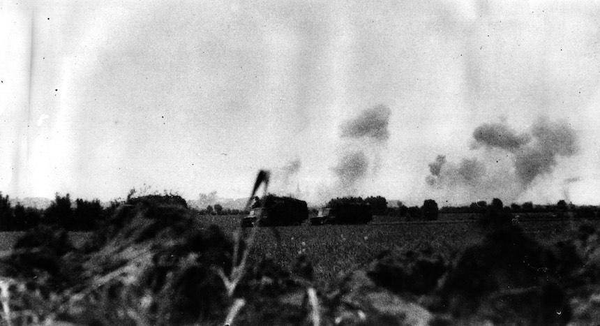 Batalla de Dunkerque - Avance de tanques