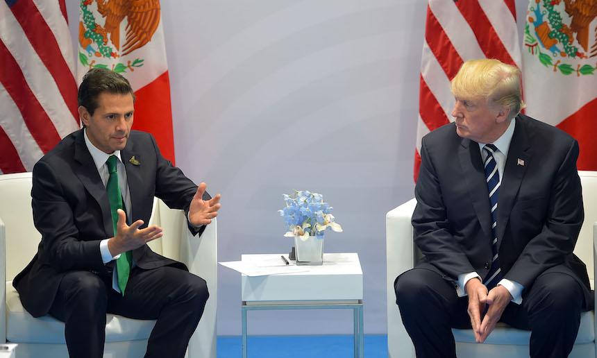 Así estuvo el encuentro entre Enrique Peña Nieto y Donald Trump