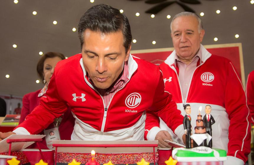 Enrique Peña Nieto (EPN) festejó su cumpleaños 51 en Toluca