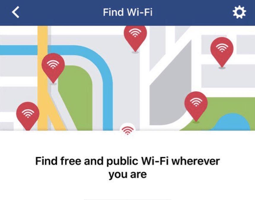 Find WiFi - Aplicación de Facebook