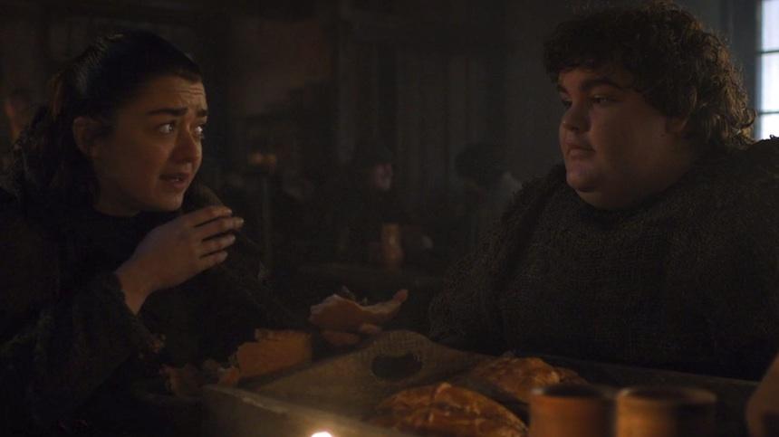 Arya y Hot Pie - Game of Thrones
