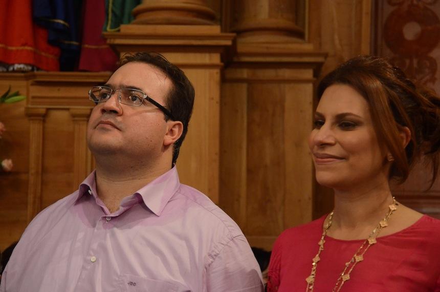 Karime Macías y Javier Duarte de Ochoa