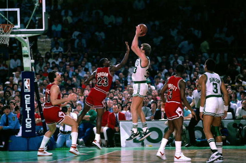 Larry Bird y Michael Jordan