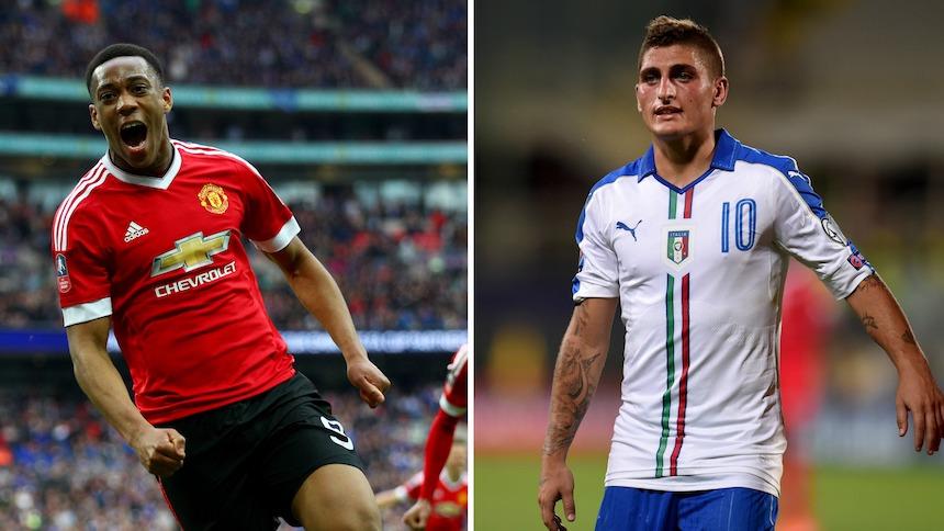 Para que Verratti se vaya al Manchester United el PSG quiere dinero y a Martial