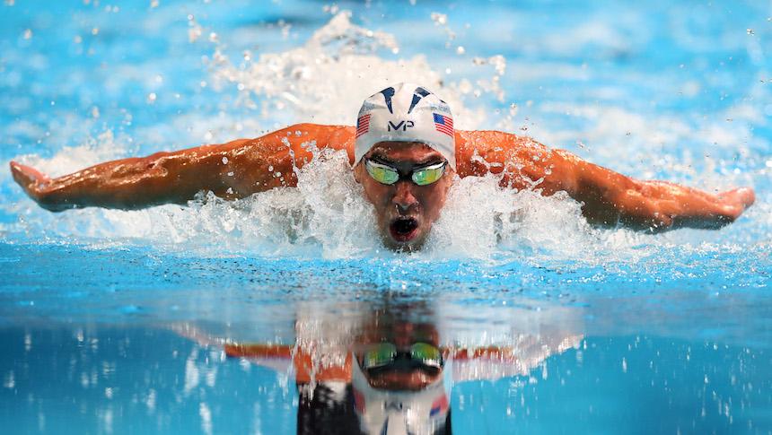 La decepcionante carrera de Michael Phelps y el tiburón blanco