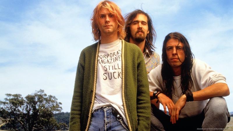 Mira una presentación de Nirvana desde… ¿una tienda de electrónicos?