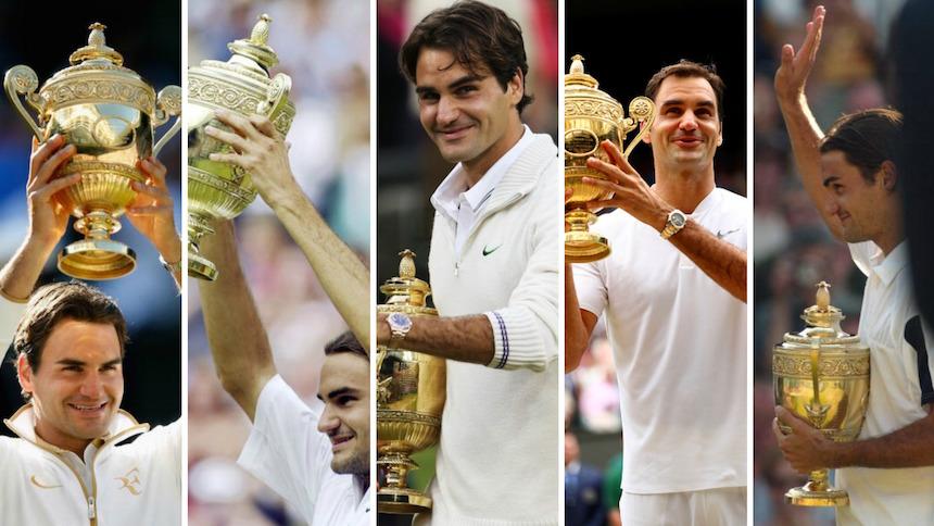 Galería: Los ocho títulos de Roger Federer en Wimbledon