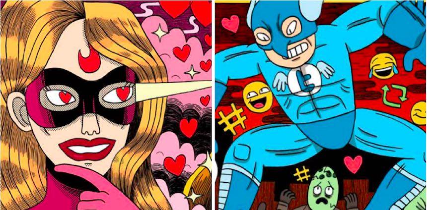 Superhéroes - Redes sociales